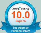 AVVO Top Rated Personal Injury Attorney