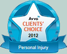 AVVO Clients' Choice Personal Injury Lawyer
